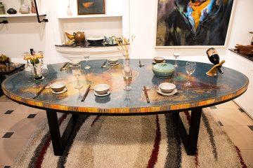 bàn trà nghệ thuật bản đồ thế giới