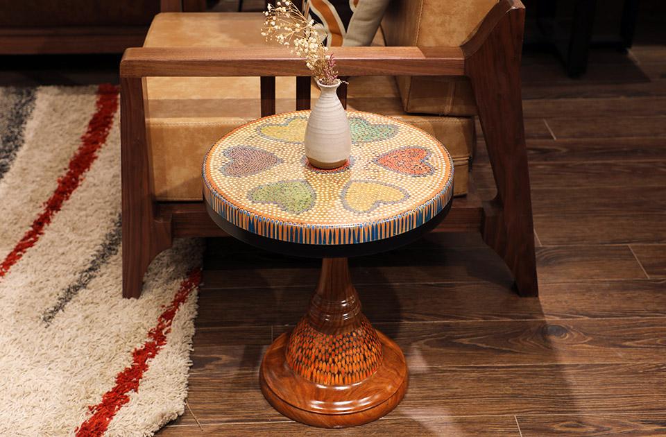 bàn trà nghệ thuật tâm VI 2