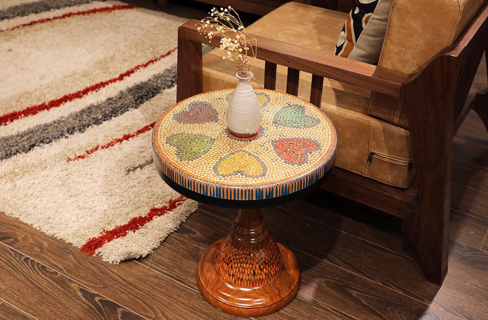bàn trà nghệ thuật tâm VI 3