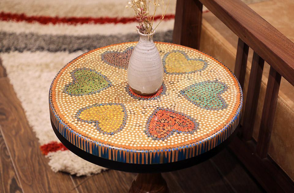 bàn trà nghệ thuật tâm VI 4