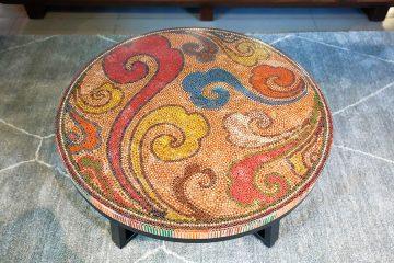 bàn trà nghệ thuật chốn thiên đường 2
