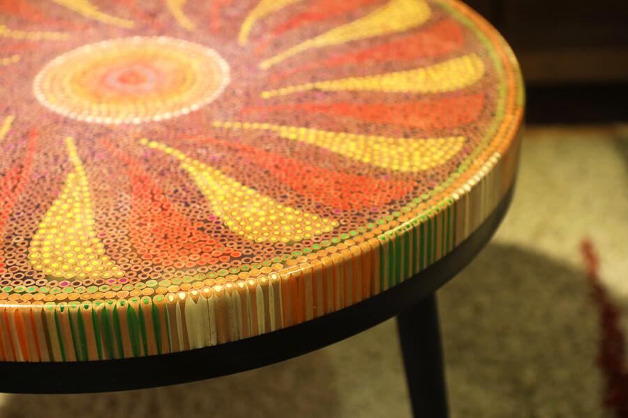 bàn trà nghệ thuật hoạ mi II 2