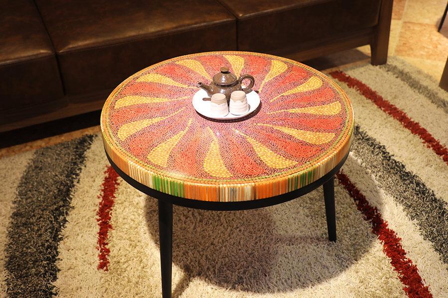 bàn trà nghệ thuật hoạ mi II 3