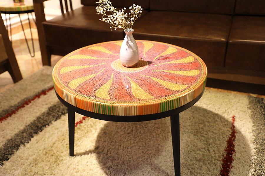 bàn trà nghệ thuật hoạ mi II 4