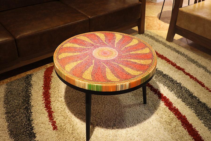 bàn trà nghệ thuật hoạ mi II