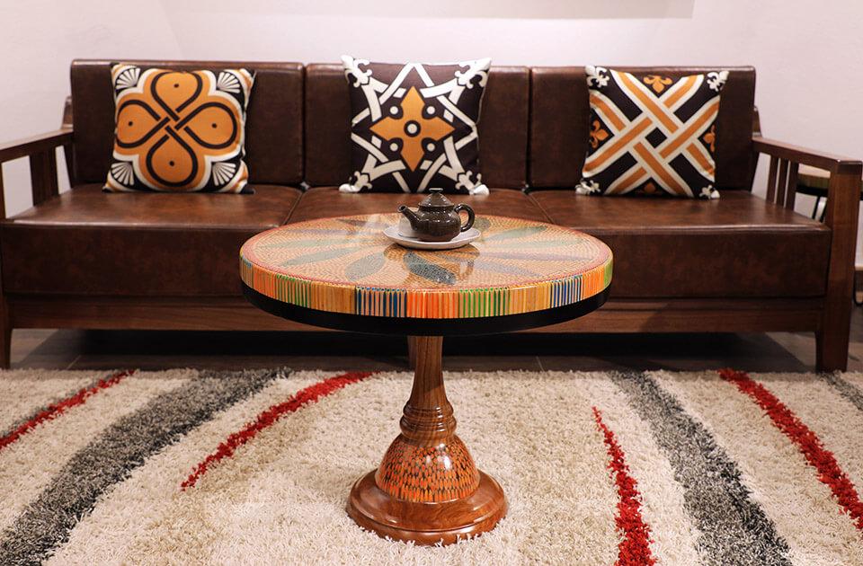 bàn trà nghệ thuật kim ngân II 4