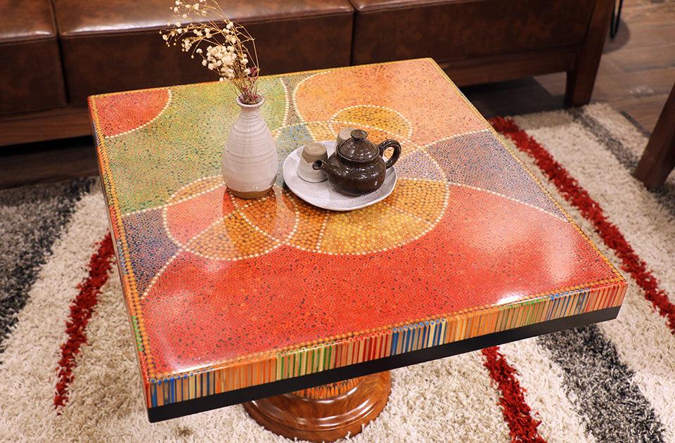 bàn trà nghệ thuật kim ngưu II 2