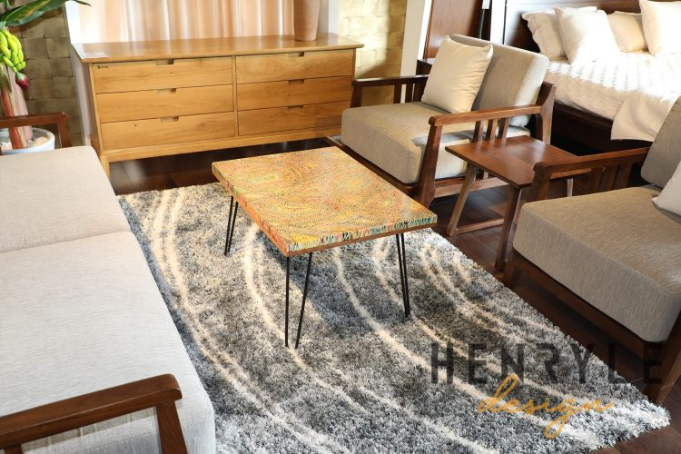 Abstract Colored-Pencil Coffee Table