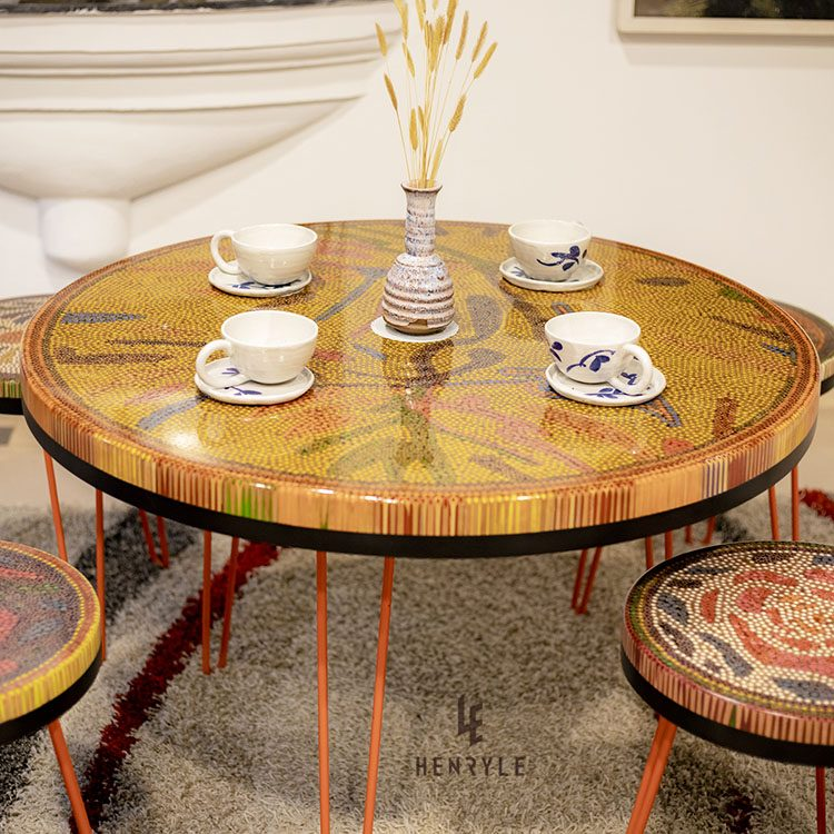 Burning Forest Colored Pencil Coffee Table 6