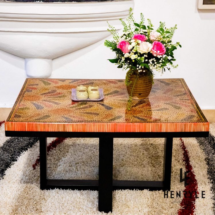 Blooming Fireworks Colored Pencil Coffee Table
