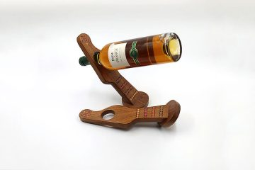 Colored-Pencil Guitar Balancing Wine Bottle Holder Stand Gravity Defying