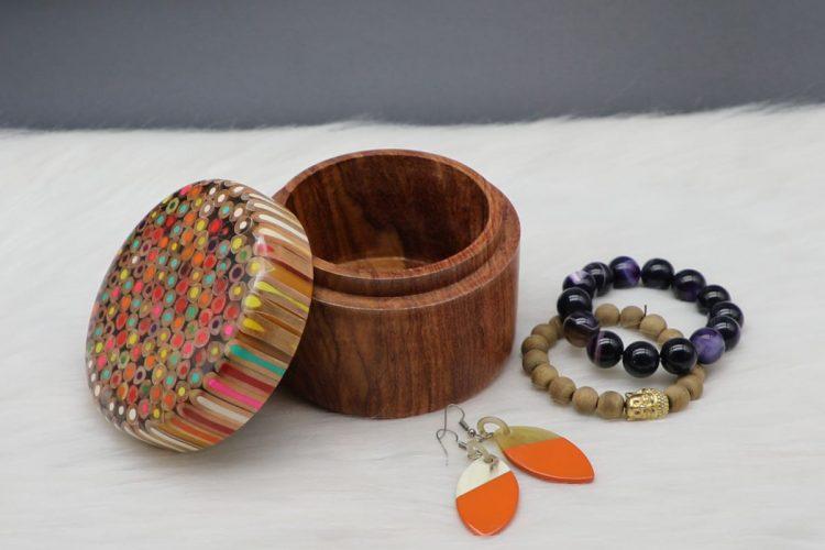 Colored-pencil Rainbow Jewelry Box