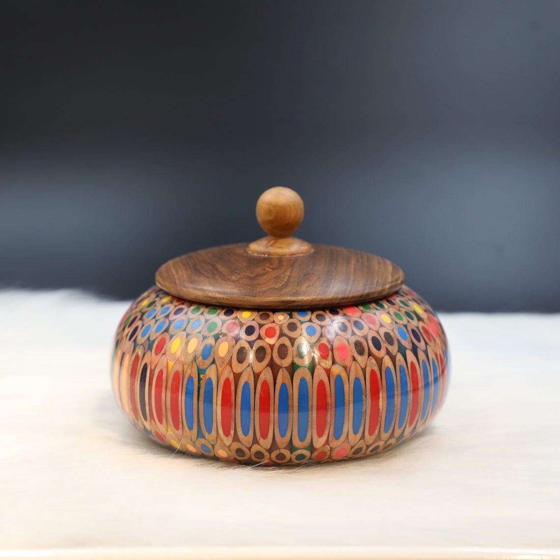 Decorative Colored-pencil Affluence Bowl I