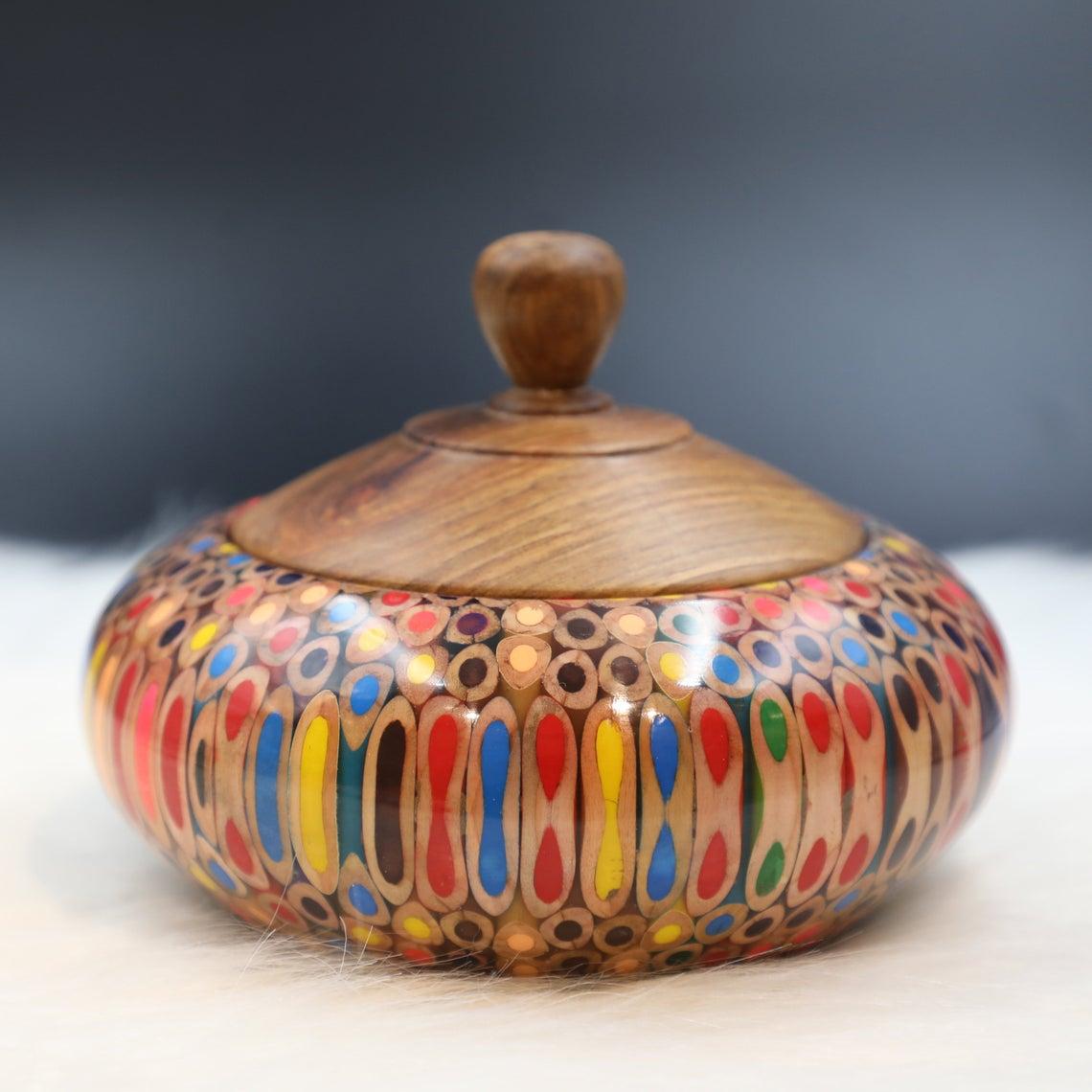 Decorative Colored-pencil Affluence Bowl II