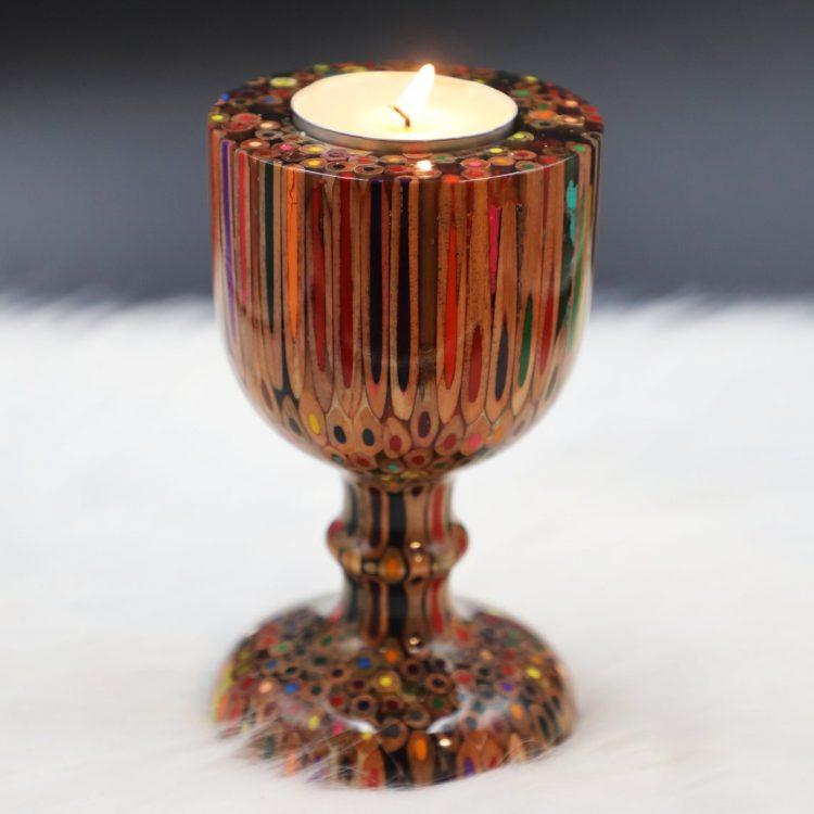 Decorative Colored-pencil Emperor Candle Holder