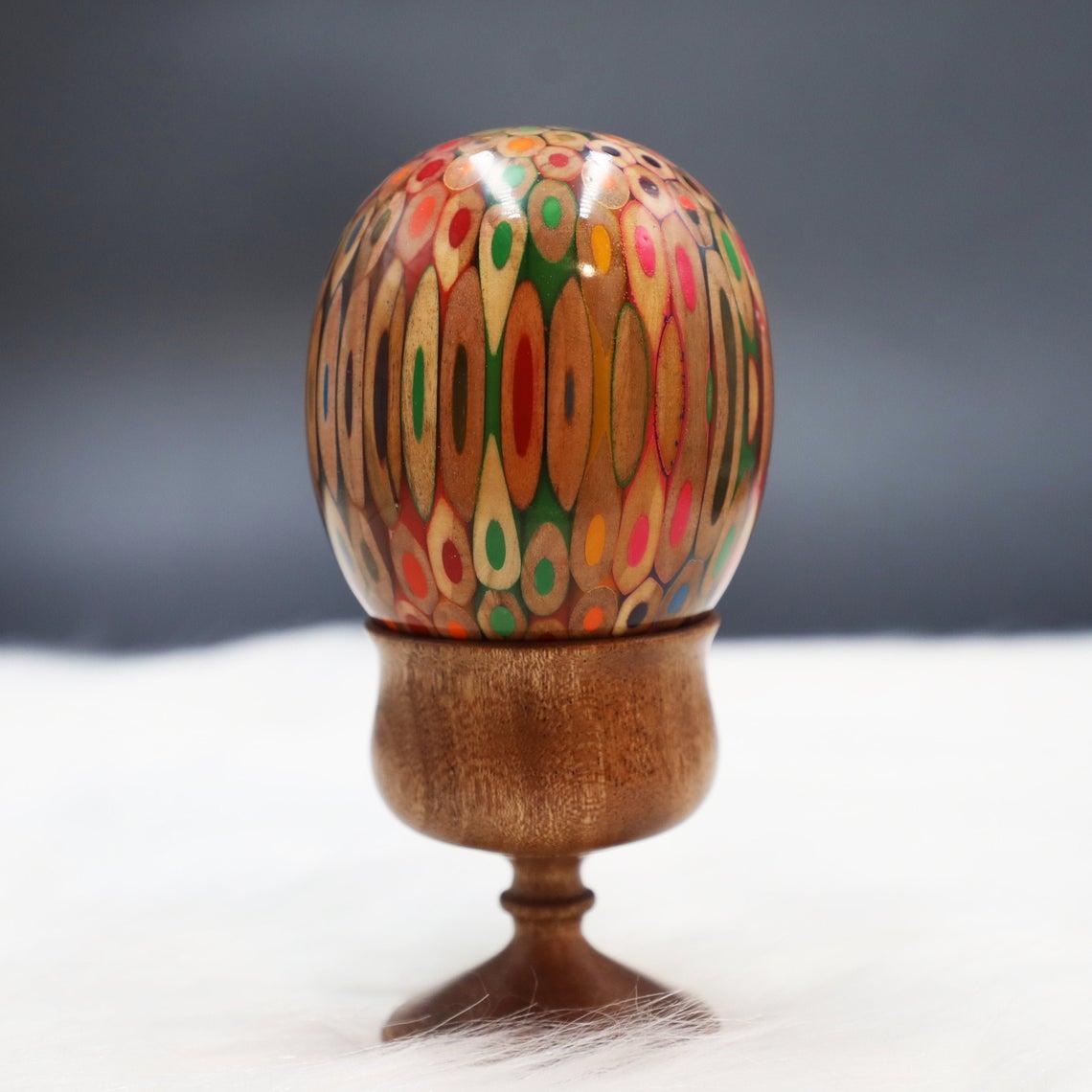 Decorative Colored-pencil Genesis Egg