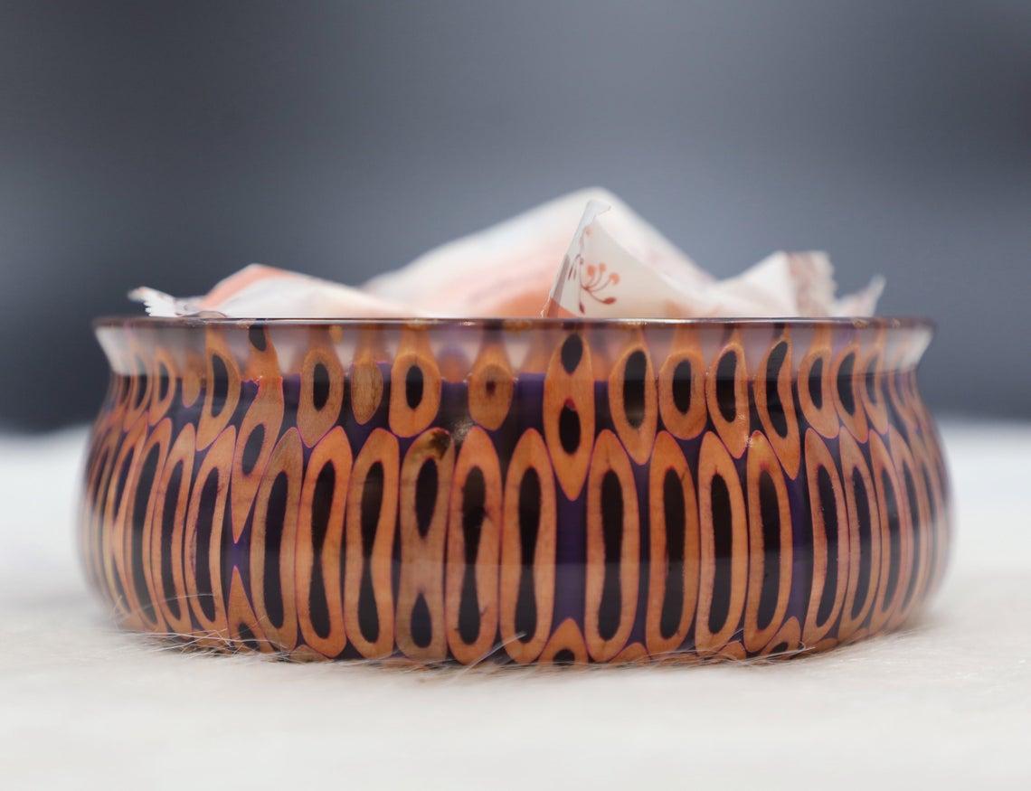 Decorative Colored-pencil Golden Precious Bowl