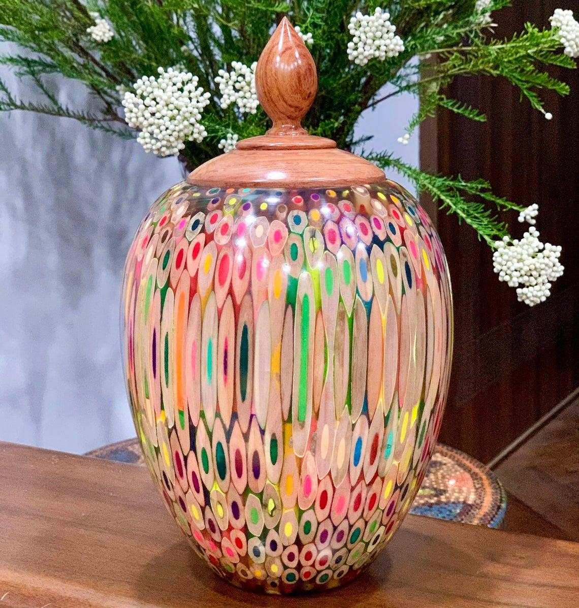 Decorative Colored-pencil Heirloom Vase