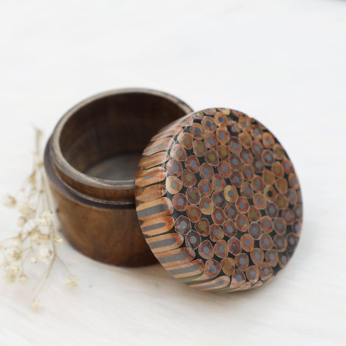 Decorative Colored-pencil Jewelry Box