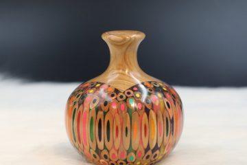 Decorative Colored-pencil Mini Summer Wind Vase