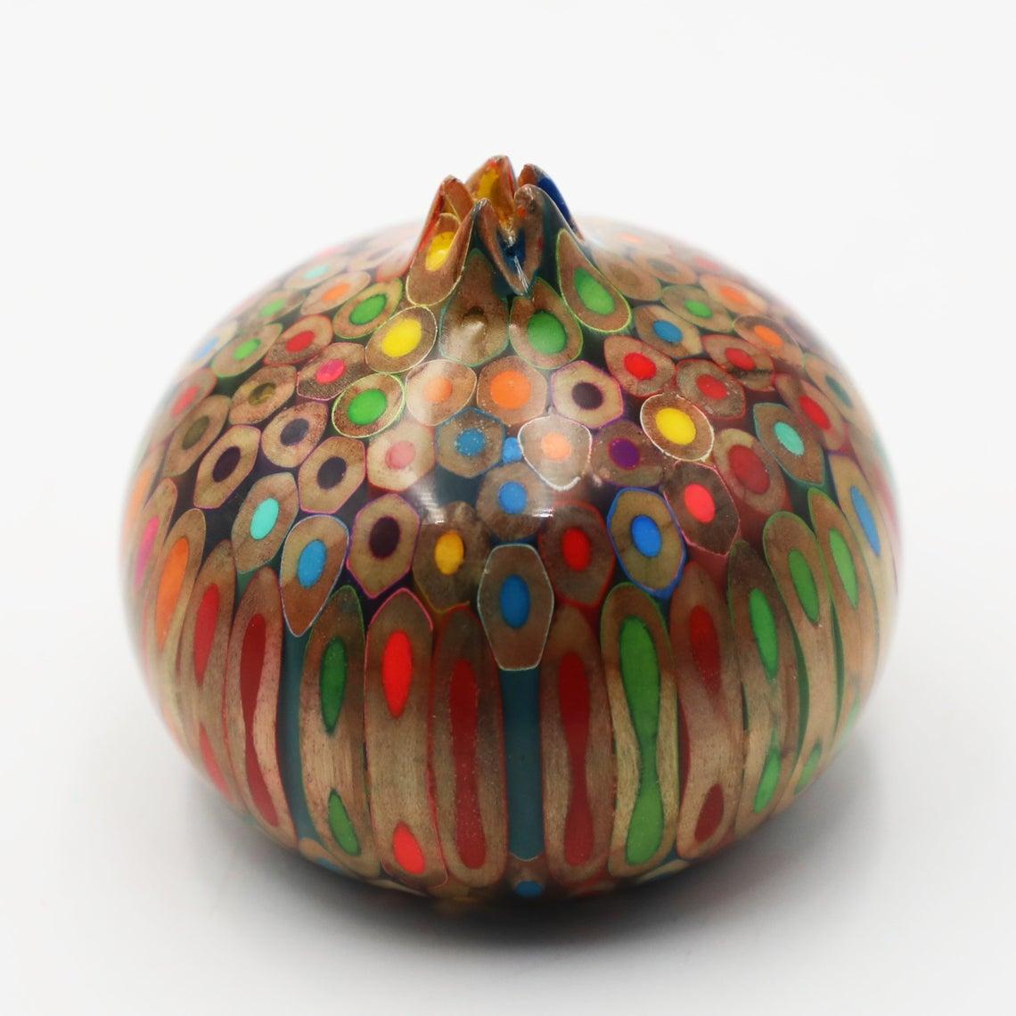 Decorative Colored-pencil Quy Tu Pomegranate