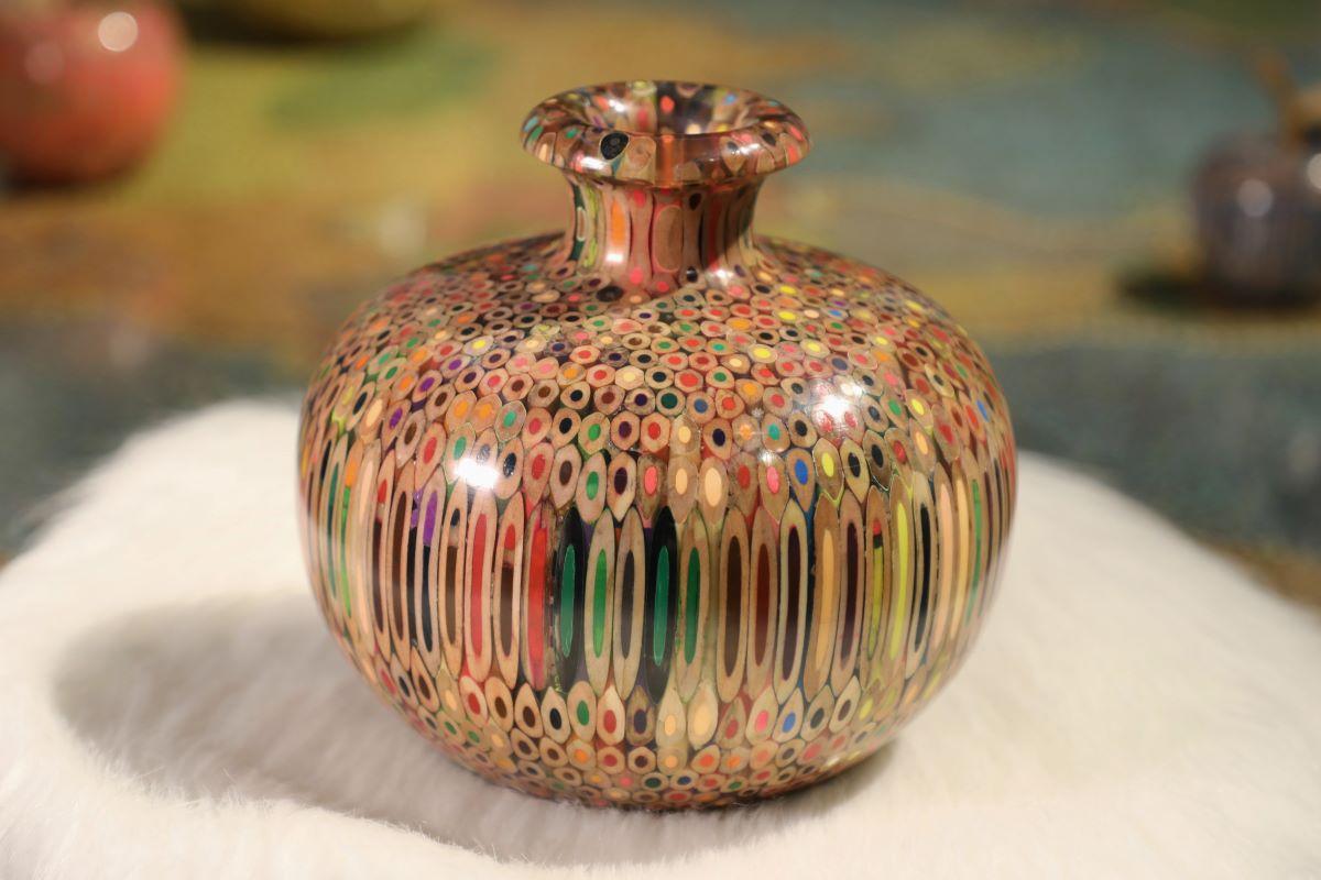 Decorative Colored-pencil Summer Wind Vase II