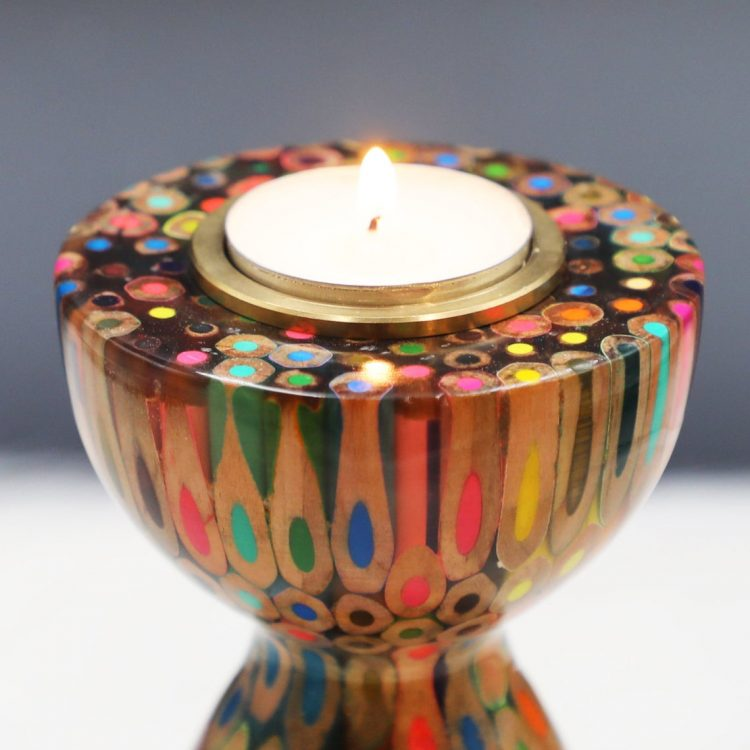 Decorative Colored-pencil The Queen Candle Holder