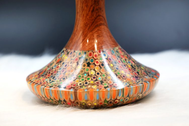 Decorative Colored-pencil High Tower Vase II 2