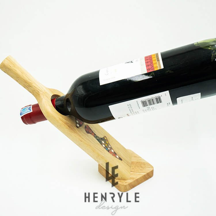 Decorative Lady Self Balance Wine - Shape Colored Pencil Bottle Holder 1