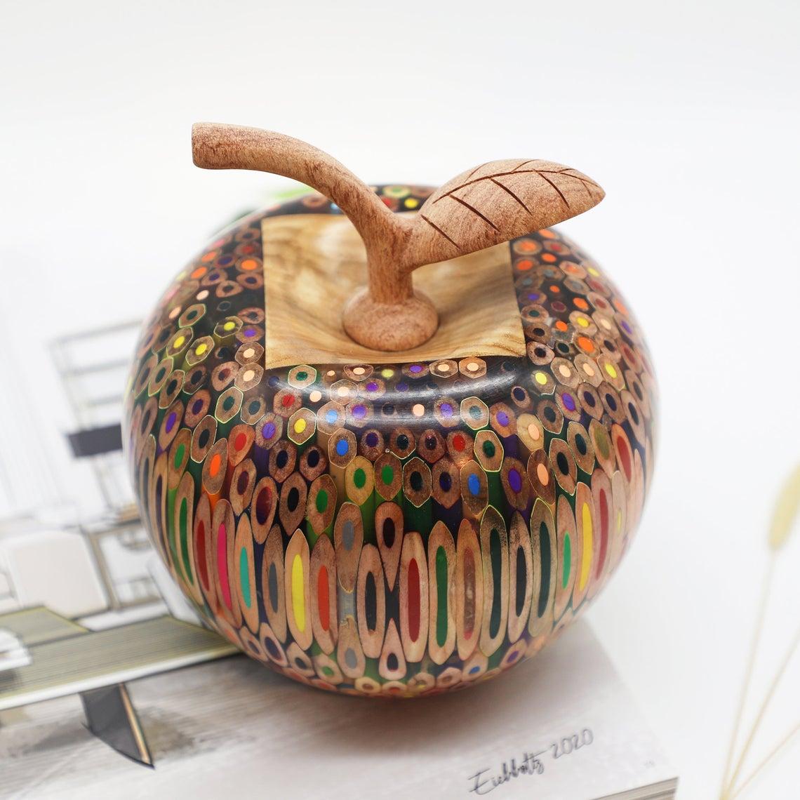 Decorative Wooden Colored-pencil Delato Apple