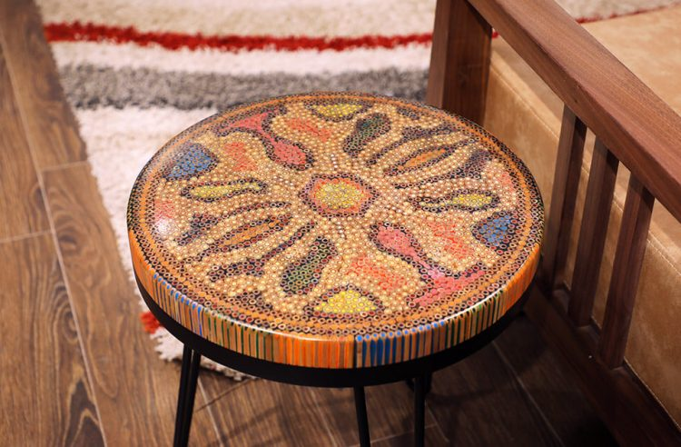 Devotion IV Colored-Pencil Coffee Table IV