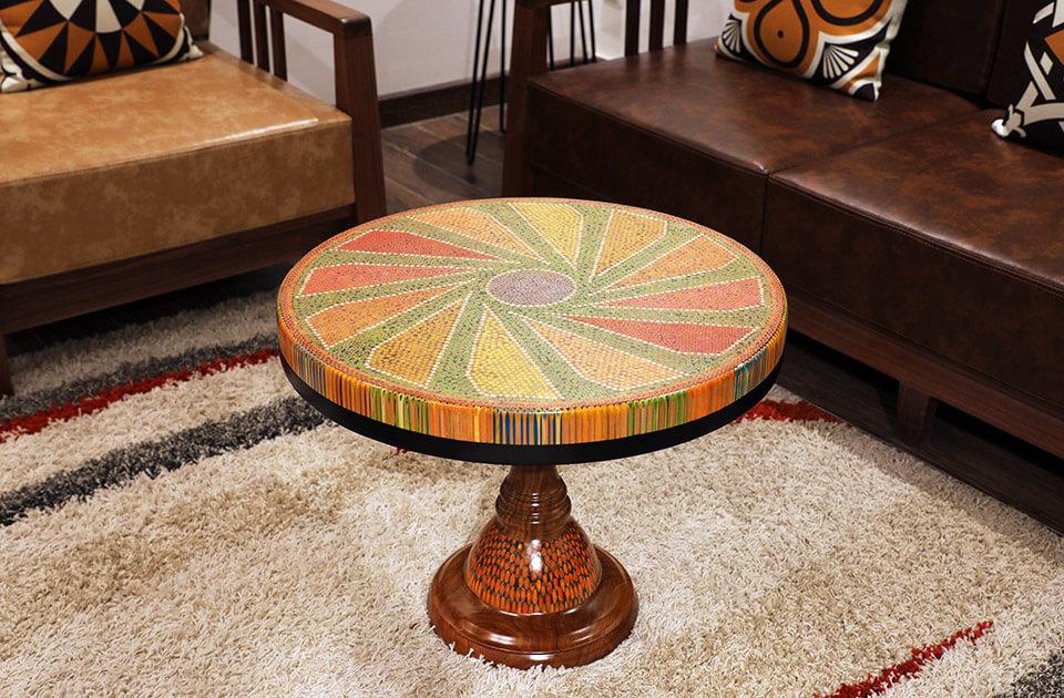 Diamond Colored-pencil Coffee Table II