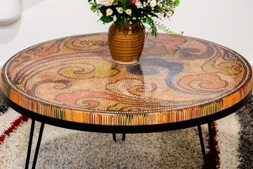 Elysium Colored Pencil Coffee Table, 1