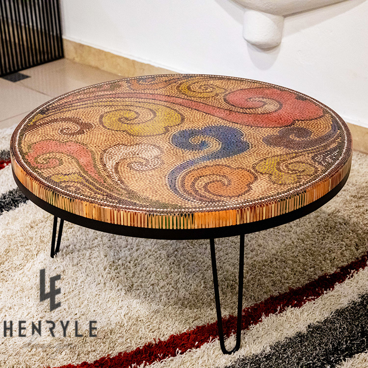 Elysium Colored Pencil Coffee Table, round table