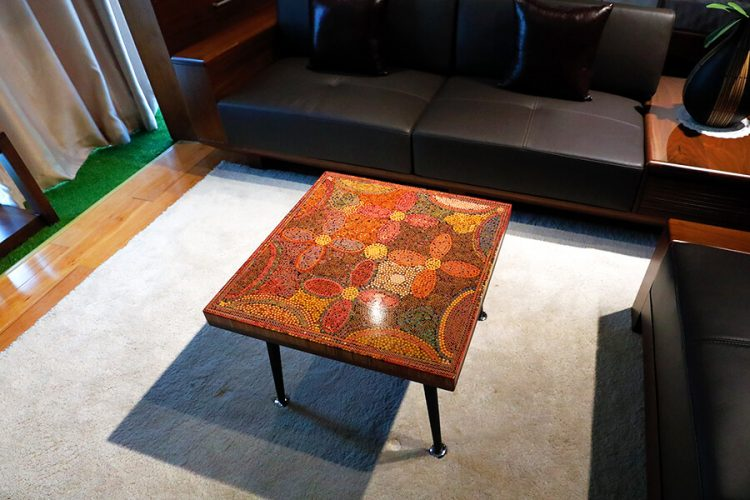 Five Blooms Colored-Pencil Coffee Table 4