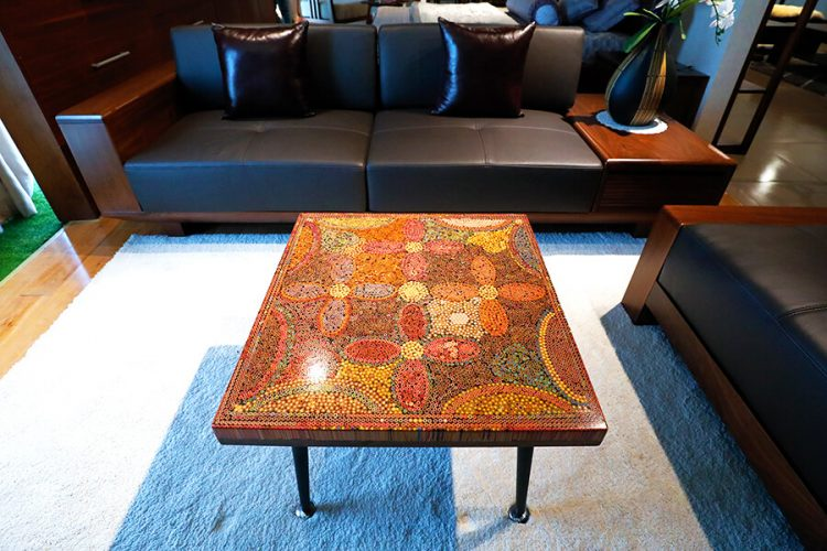 Five Blooms Colored-Pencil Coffee Table 5