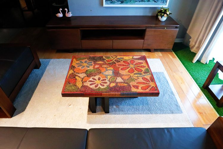 Floral Life Colored Pencil-Coffee Table 1