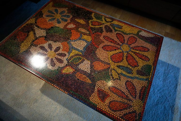 Floral Life Colored Pencil-Coffee Table 2