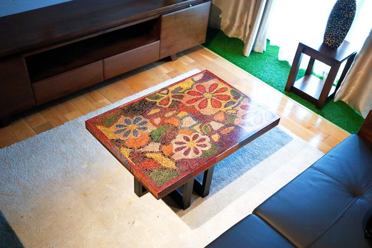 Floral Life Colored Pencil-Coffee Table 3