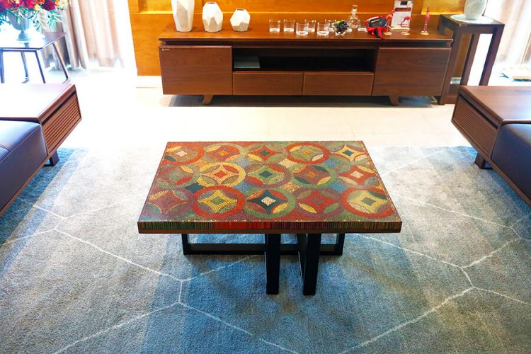 Flow of Property Colored-Pencil Coffee Table 1