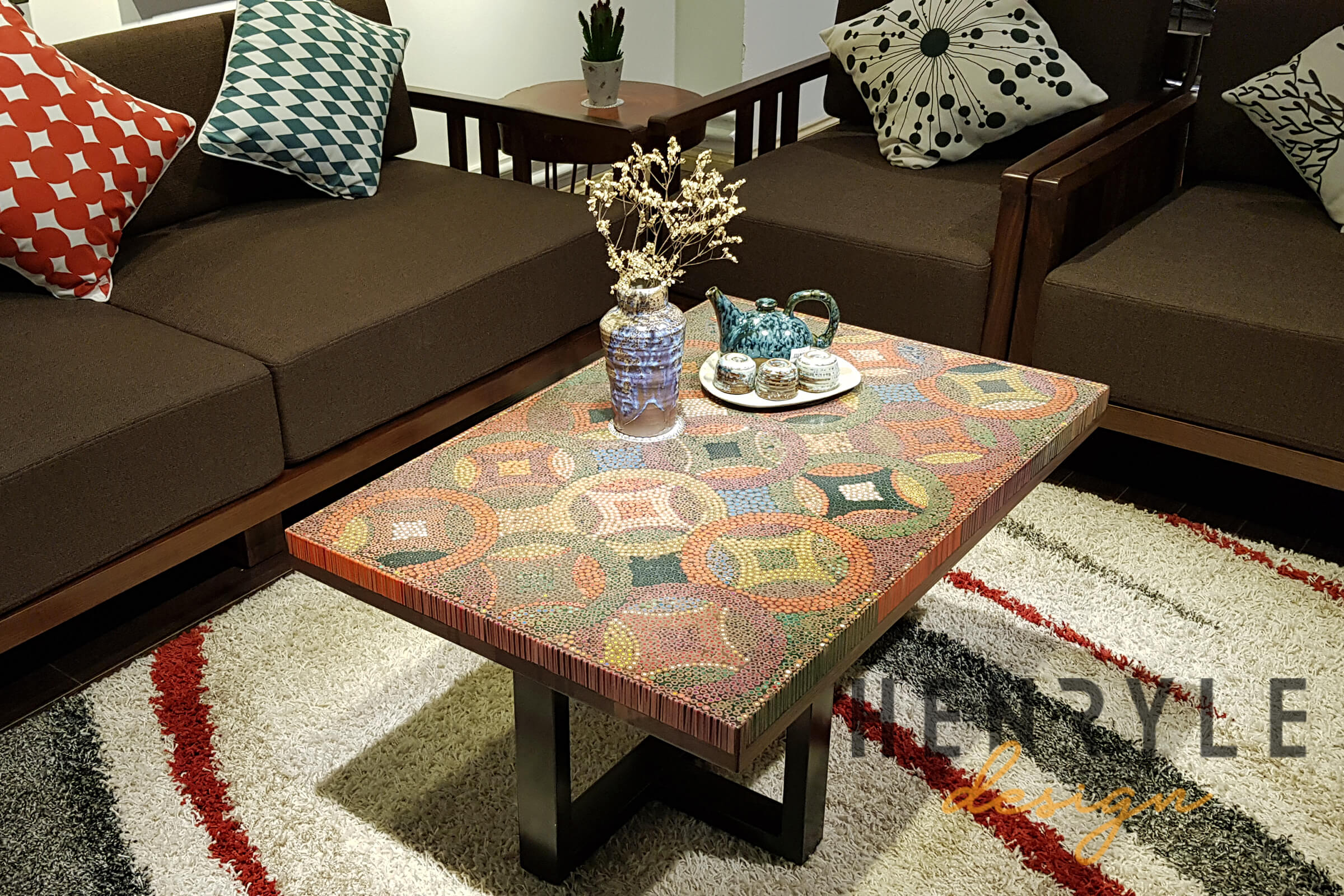 Groovy Flow Of Property Colored Pencil Coffee Table Henry Le Design Squirreltailoven Fun Painted Chair Ideas Images Squirreltailovenorg