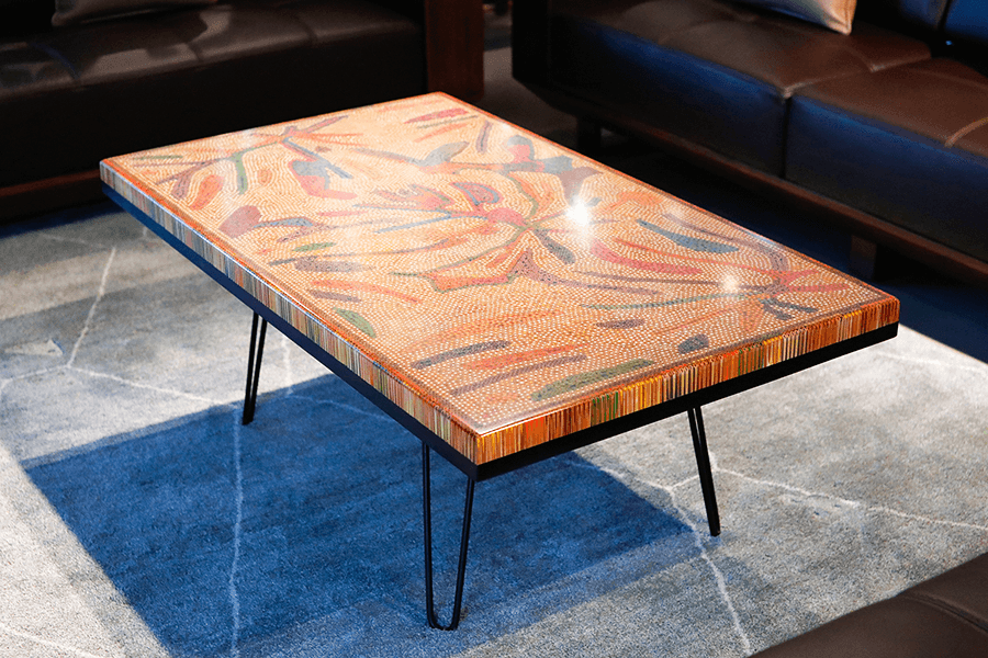 Golden Autumn Colored Pencil Coffee Table II