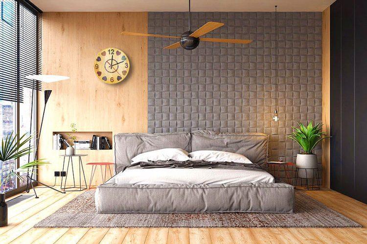 Heart Beat Colored-Pencil Wood Wall Clock 3