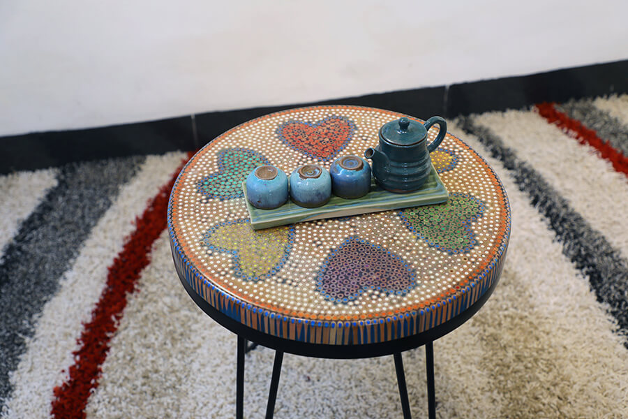 Heart Colored-pencil Coffee Table 1
