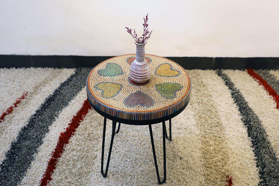 Heart Colored-pencil Coffee Table 2