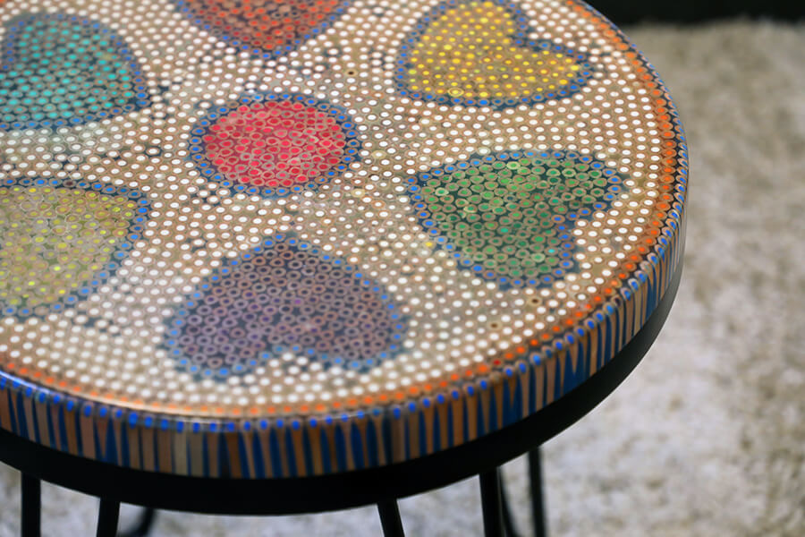 Heart Colored-pencil Coffee Table 3