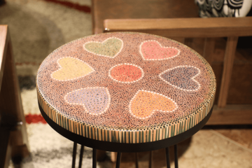 Heart II Colored-pencil Coffee Table