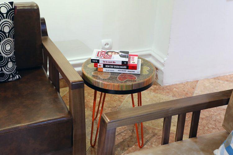Heart III Colored-pencil Coffee Table 1