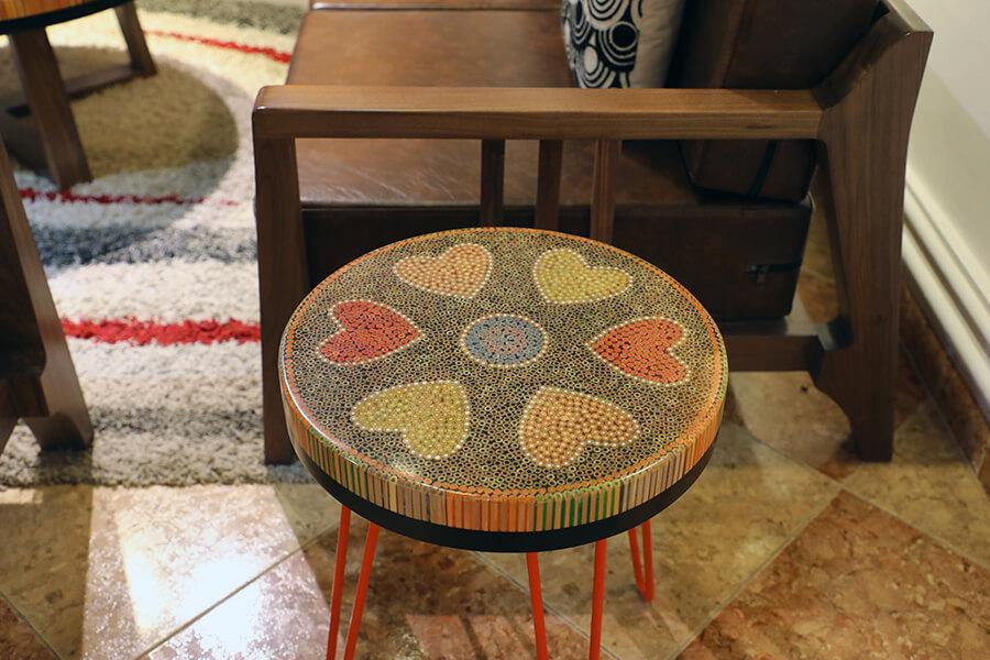 Heart III Colored-pencil Coffee Table 2