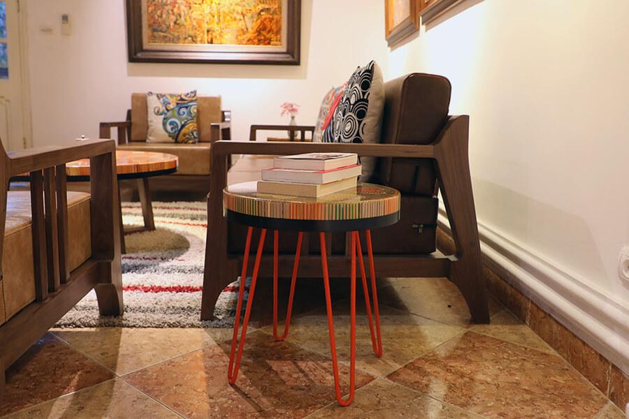 Heart III Colored-pencil Coffee Table 3